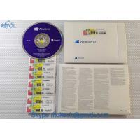 China Retail Box PC System Software Microsoft Windows 10 Operating System 32 Bit / 64 Bit With Original OEM Key on sale