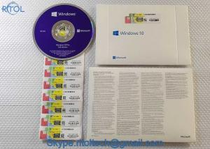 China Retail Box PC System Software Microsoft Windows 10 Operating System 32 Bit / 64 Bit With Original OEM Key on sale