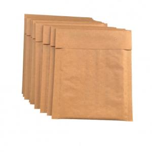 China Recycle  Eco Golden Brown Kraft Bubble Envelopes For  E-commerce on sale