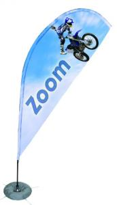 China Rotatable Flying Beach Banner Polyester Graphic Trade Show Fabric Displays ROHS on sale