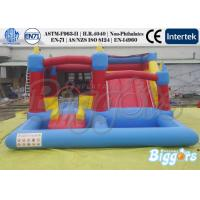 Commercial Inflatable Water Slide Bouncing Castle With A Water Pool For Kids Playing