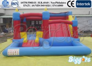 China Commercial Inflatable Water Slide Bouncing Castle With A Water Pool For Kids Playing on sale