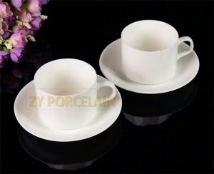 China homeware superwhite Ceramic tea cup and saucer Luxury For Home And Hotel 220 ml on sale