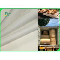 70gsm 120gsm Food Grade Uncoated White Bleached Kraft Paper FDA EU SGS Certified