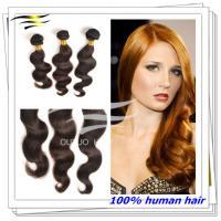Premium virgin hair double weft brazilian human hair weaving 30