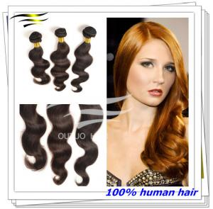 China Premium virgin hair double weft brazilian human hair weaving 30'' brown hair on sale