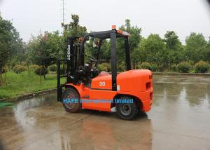 China 3 Ton Diesel Forklift Truck With Isuzu C240 Engine Fork Length 1070mm Solid Tyre on sale