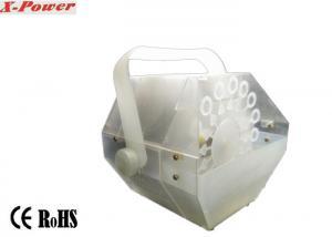 China Newest 60 Watt Transparent Enclosure LED Bubble Machine Mini Size Light Weight With 2 LEDs ,  Auto Sound    X-021A on sale