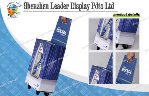 China Environment Pos Corrugated Paper Trolley Box With Telescopic Paper Bar on sale