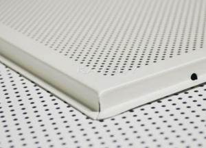 China Customize Aluminum metal perforated drop down ceiling tiles / panel on sale