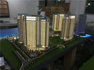 China 1/75 Scale Architectural House Model Builder With Light / High Rise Scale Residential Maquette on sale