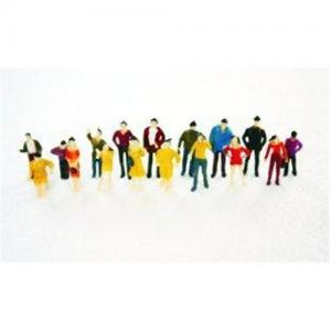 China 1:75 Architectural Scale Model People 3D Painted Figures 2.5cm on sale