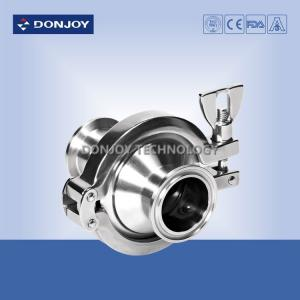 China SS316L 2.5 Inch Hydraulic Check Valves Middle Clamp Type Non Retention on sale