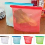 Factory 1L or 1.5L 4 colors Option Silicone Food Storage Bag