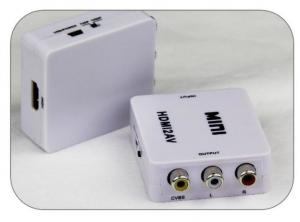 China High quality black and white color  mini av 2 hdmi converter  cvbs / s-video output HDTV on sale