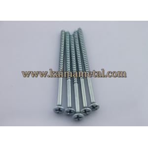 China Carbon steel white zinc plated wood screws on sale