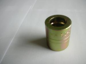 China Yellow Carbon Steel Hydraulic Ferrule Fittings Sleeve Tube For SAE 2SN HOSE on sale