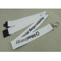 China Sport Meeting Neck Custom Printed Lanyards Polyester With Mobile Holder on sale