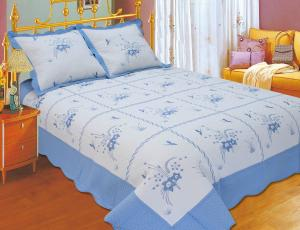 China Durable Embroidery Cotton Quilt Sets , Designer Quilt Covers With ISO9001 Certification on sale