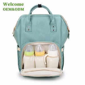 China Fashionable Baby Care Nappy Changing Bags , Durable Green Infant Diaper Bag on sale
