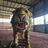 Customized Coin-operated Animatronic Saber-toothed tiger Kids Amusement park