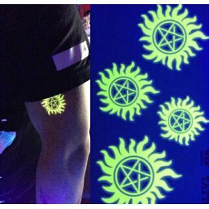 China Gold Glow in the dark metallic tattoo 2015 hot product on sale