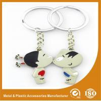 Boy Girl Lover Custom Metal Keychains Engraved Metal Keyrings