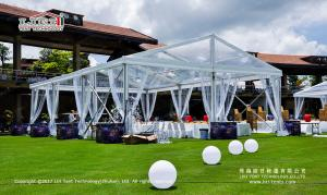 China 200-300 People Waterproof Clear Party Tent with Clear Top for Outdoor Parties and Events on sale