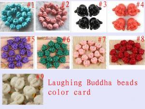 China 10 - 30mm Colorful Semi Precious Gem Bead Natural Laughting Buddha Beads on sale