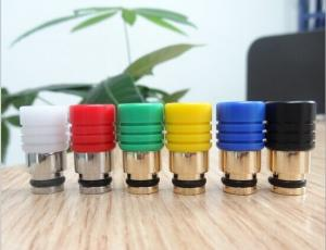 China Large Pyrex Glass E Cig Drip Tips Acrylic Muffler Hybrid Column With Wide Bore on sale