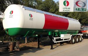 China 56000 Liters Transport LPG Gas Tanker Truck 25T Large Scale Crude Oil Tanker Truck on sale