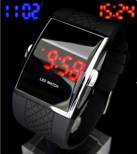 China 2015Luxury LED Digital Watch Red & Blue Light Optional Fashion For Men Women's Sports Stainless Steel Wristwatch on sale