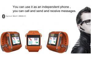 China Teléfono del reloj de Bluetooth de la tarjeta de SIM con el vídeo, audio, despertador on sale