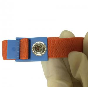 China Elastic Anti-static Wrist Band Adjustable 4MM Snap Many Colors Bands Available on sale