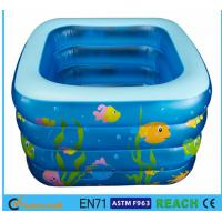 Square Inflatable Swimming Pool Sea Animal Printing Easy Setting Up For Kids