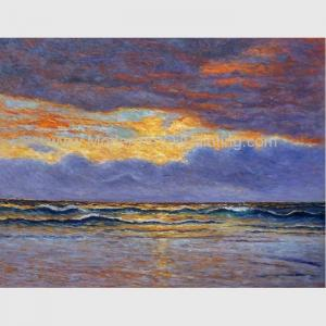 China Impressionism Claude Monet Oil Paintings Reproduction Sunrise Seascape Oil Paintings on sale