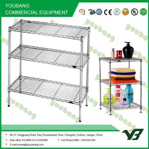 Free standing Wire mesh shelving units / Wire Display Racks for ...