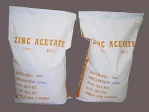 China High Pure Zinc Acetate Dihydrate / Zinc Acetate Dehydrate Technical grade on sale