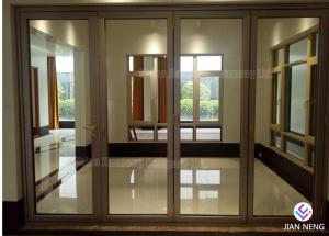 China Australia Style Aluminium Casement Doors , Aluminum Sliding Patio Doors With Tempered Frosted Glass on sale