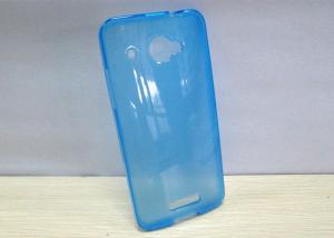 China Transparent blue case for HTC X920D Butterfly phone case , HTC Cellphone Cases on sale