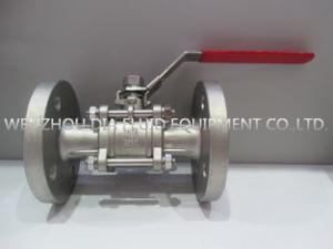 China 1 Inch Full Port CF8 / WCB Flanged Ball Valve Handle Operate ASME B16.34 on sale