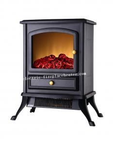 China Home Use Flueless 1500W Free Standing Electric Fireplace , Contemporary Electric Fireplace on sale