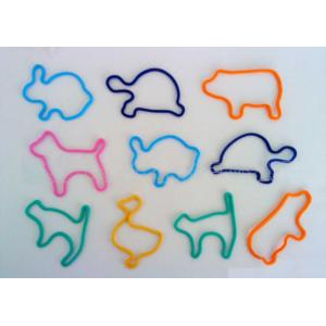 China Multi Famous Fun Animal Silly Shape Band Glow Fluorescent Silly Silicone Rubber Band on sale