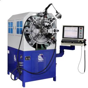 Quality Spring Wire Diameter 0.3 - 2.5mm Twelve Axes Cam-Less CNC Spring Forming Machine for sale