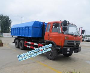China Hydraulic oil cylinder controlled orange color Dongfeng 6x4 20 ton used hook truck cheap price for sale on sale
