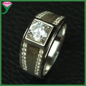 China wholesale price 925 silver china jewelry white cz diamond ring supplier