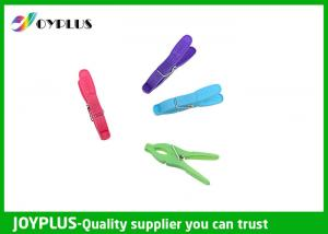 China Colorful Plastic Clothes Pegs Clips For Hanging Clothes OEM / ODM Acceptable on sale