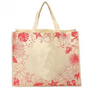 China Custom Printed Non Woven Reusable Bags Eco Friendly Grocery Tote Promotional on sale