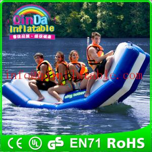 China Inflatable floating water seesaw pool seesaw for toddlers inflatable floating water game on sale