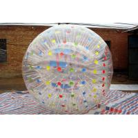Big Waterproof Inflatable Human Ball Commercial With Colorful Spot
